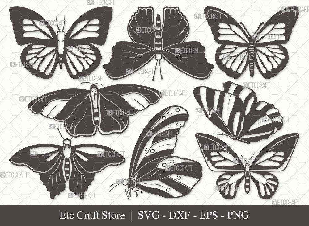 Butterfly Silhouette SVG | Butterflies SVG Bundle