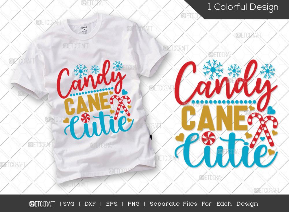 Candy Cane Cutie SVG Cut File | Christmas SVG