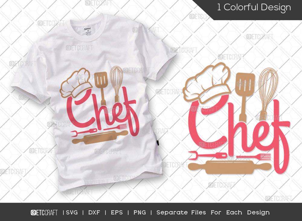 Chef SVG Cut File | Cooking Svg | Kitchen SVG