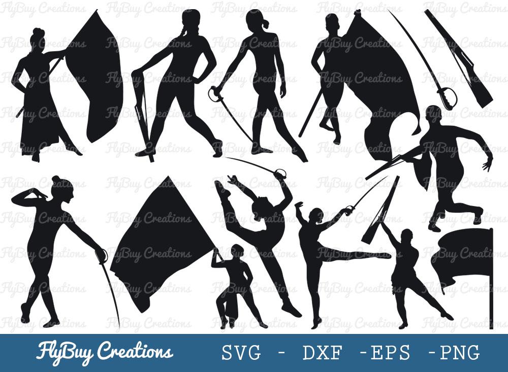 Color Guard SVG Bundle | Marching Band SVG