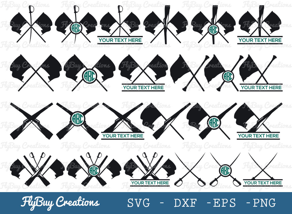 Color Guard SVG Bundle | Color Guard Flags SVG