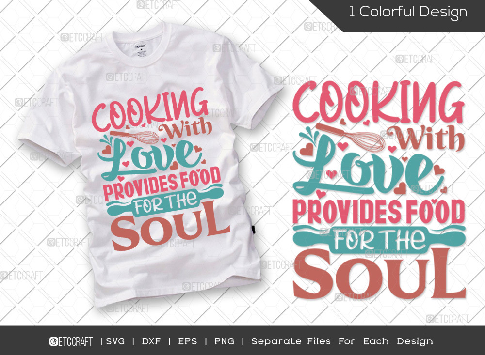 Cooking With Love SVG Cut File | Kitchen SVG