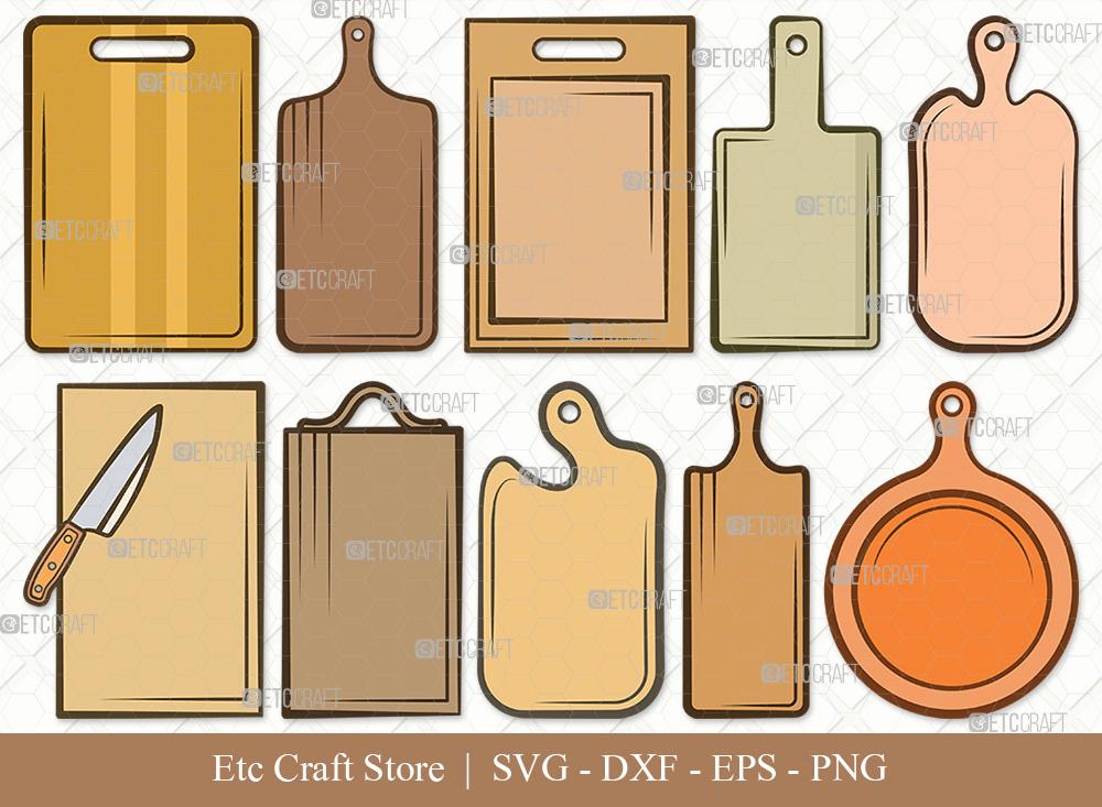 Cutting Board Clipart SVG | Kitchen Board SVG