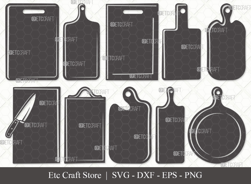Cutting Board Silhouette | Kitchen Board SVG