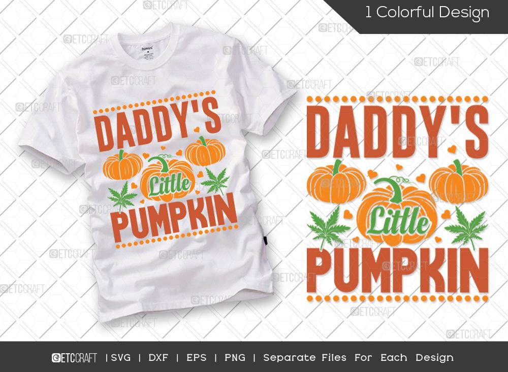 Daddys Little Pumpkin SVG | Thanksgiving SVG