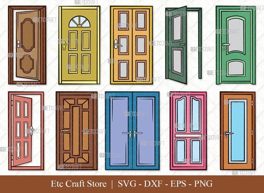Door Clipart SVG | House Door SVG Bundle