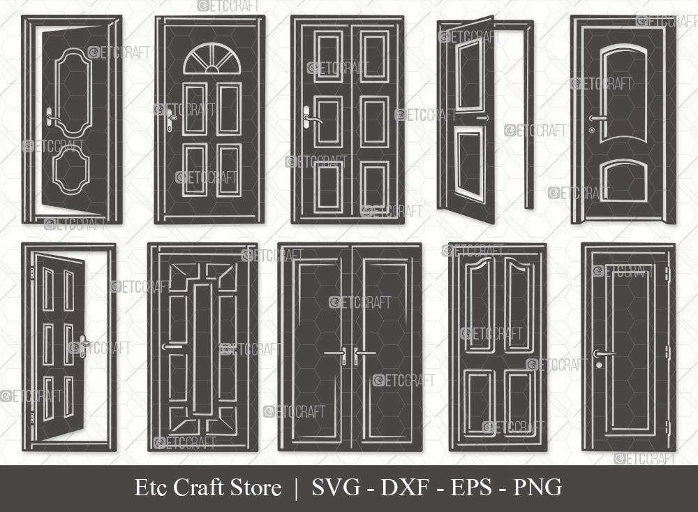 Door Silhouette SVG | House Door SVG Bundle