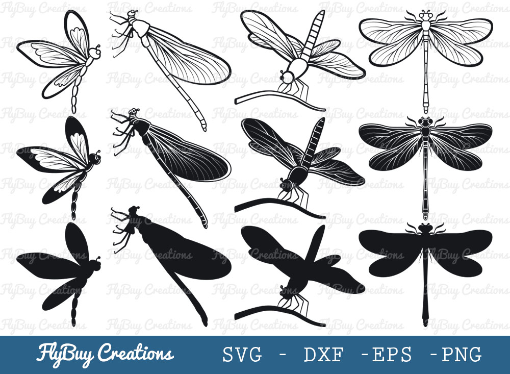 Dragonfly SVG Bundle | Dragonfly SVG Bundle