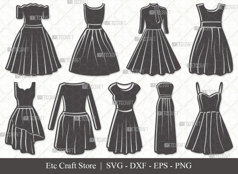 Dress Silhouette SVG | Dresses SVG Bundle
