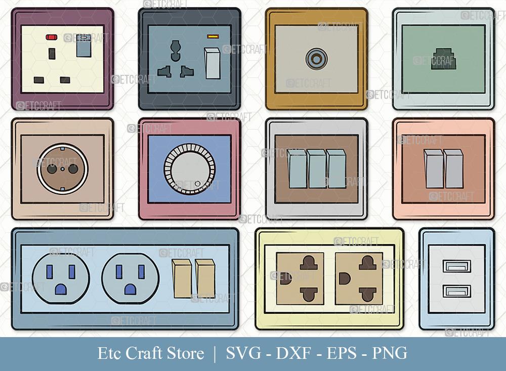 Electrical Socket Clipart | Electrical Plug SVG