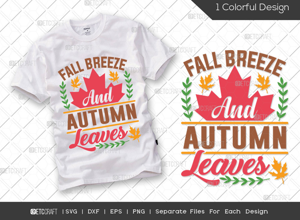 Fall Breeze And Autumn Leaves SVG Cut File