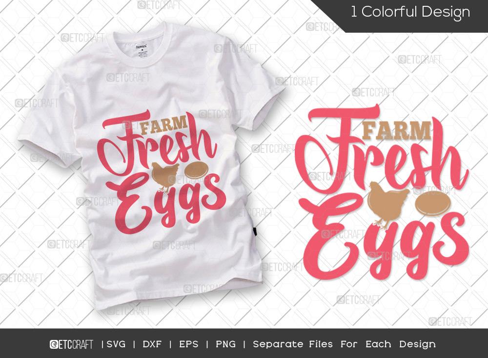 Farm Fresh Eggs SVG Cut File | Kitchen SVG
