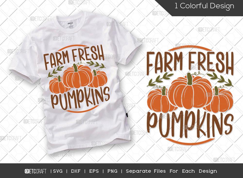 Farm Fresh Pumpkins SVG | Thanksgiving SVG