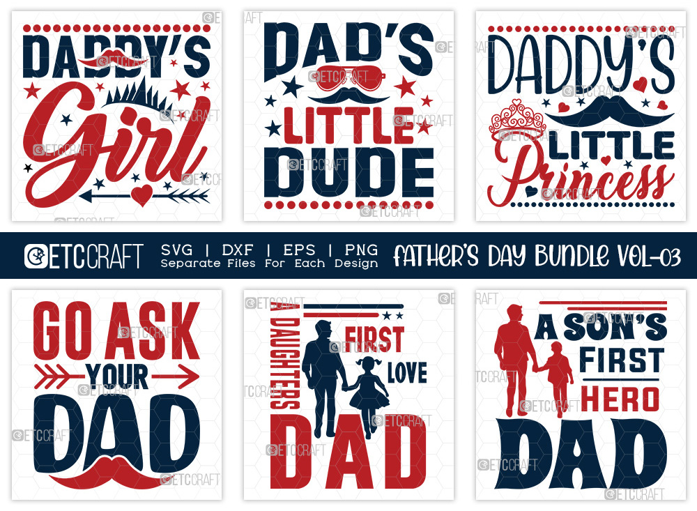 Fathers Day Bundle Vol-03 | Dad's Little Dude