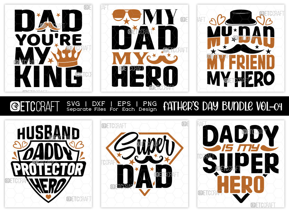 Fathers Day Bundle Vol-04 | Supper Dad SVG