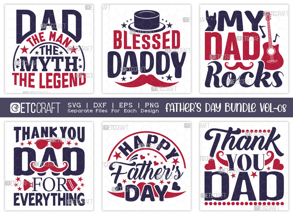 Fathers Day Bundle Vol-08 | Blessed Daddy SVG