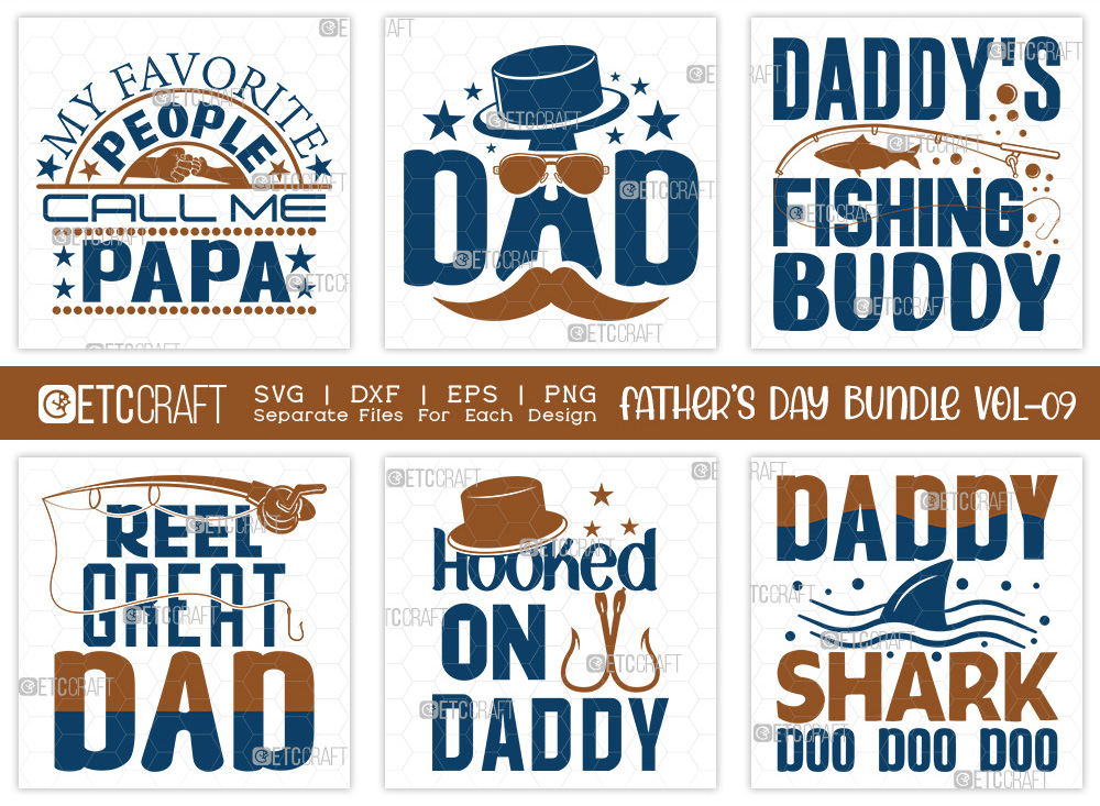 Fathers Day Bundle Vol-09 | Reel Great Dad SVG