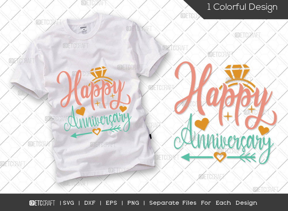 Happy Anniversary SVG Cut File   Marriage SVG