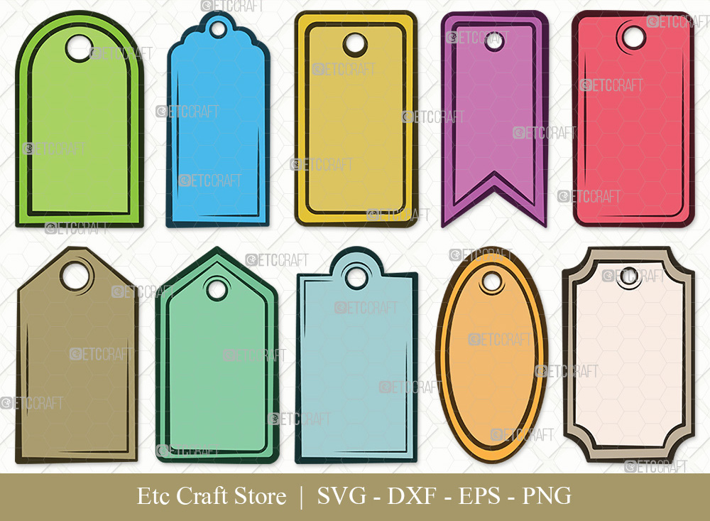 Gift Tags Clipart SVG Cut File | Tags SVG Bundle