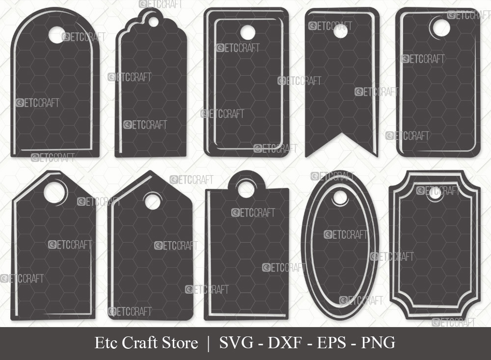 Gift Tags Silhouette SVG | Tags SVG Bundle