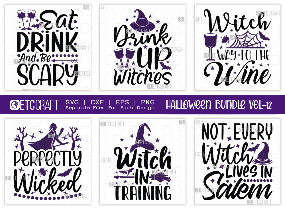 Halloween Bundle Vol-12 | Perfectly Wicked SVG