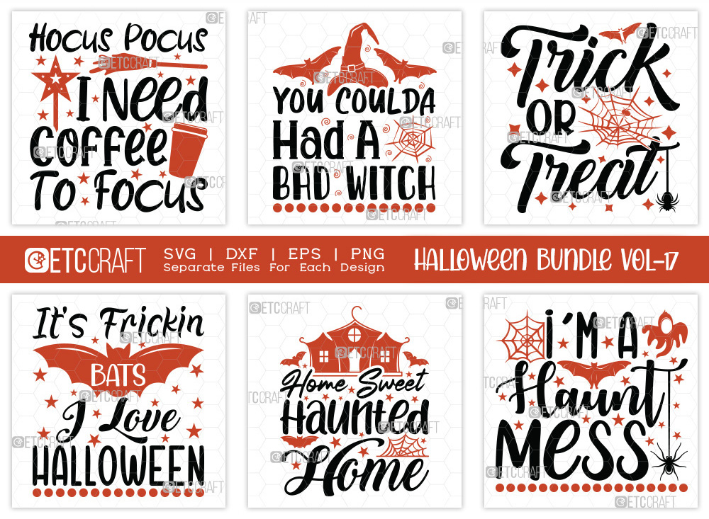 Halloween Bundle Vol-17 | Trick Or Treat SVG