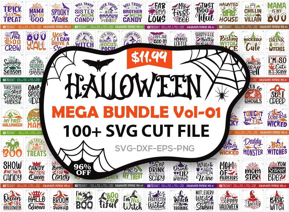 Halloween Mega Bundle Vol-01   31 October SVG