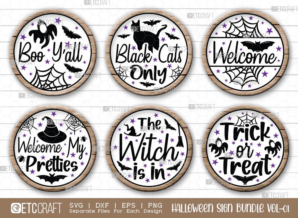 Halloween Sign Bundle Vol-01 | Welcome SVG