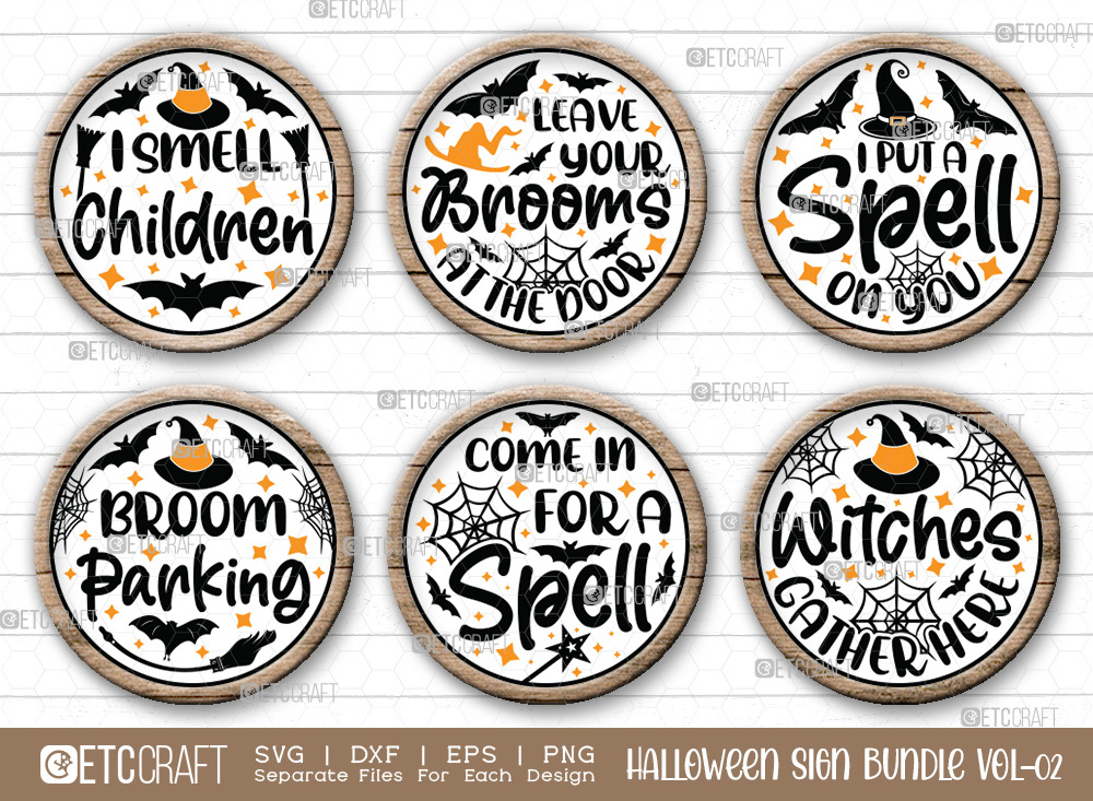Halloween Sign Bundle Vol-02   Halloween SVG