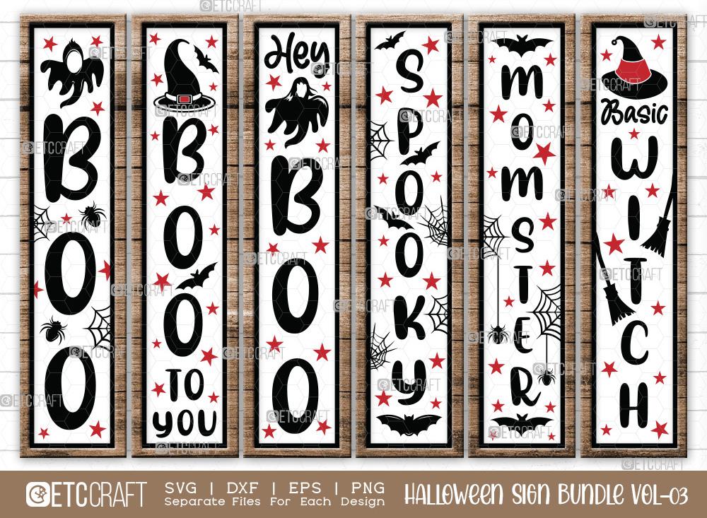Halloween Sign Bundle Vol-03 | Spooky SVG
