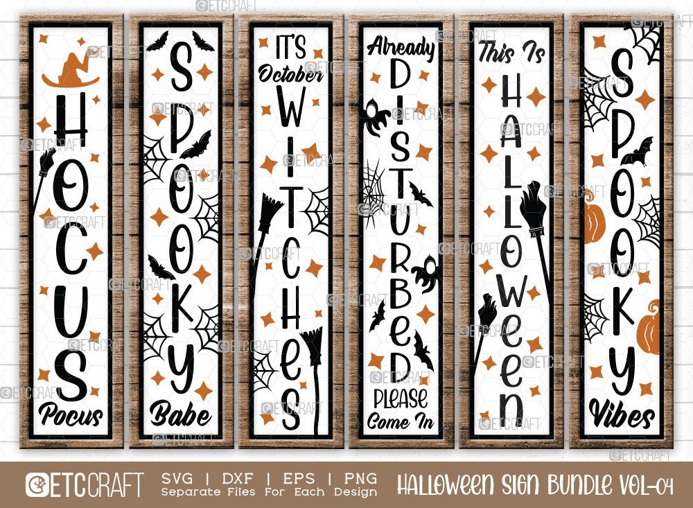 Halloween Sign Bundle Vol-04 | Hocus Pocus Svg