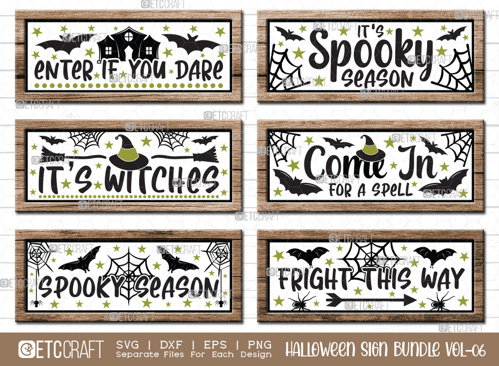 Halloween Sign Bundle Vol-06 | Its Witches SVG