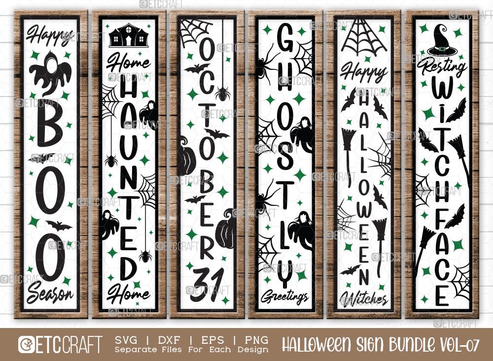 Halloween Sign Bundle Vol-07   October 31 SVG