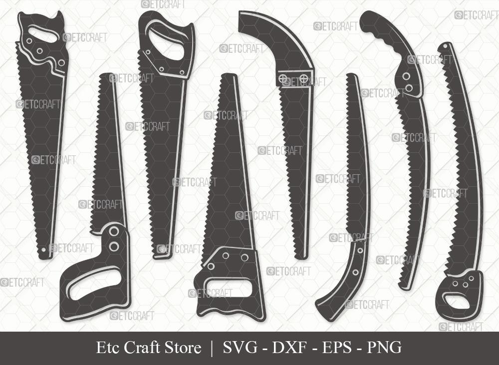 Hand Saw Silhouette SVG | Carpenter Tools SVG