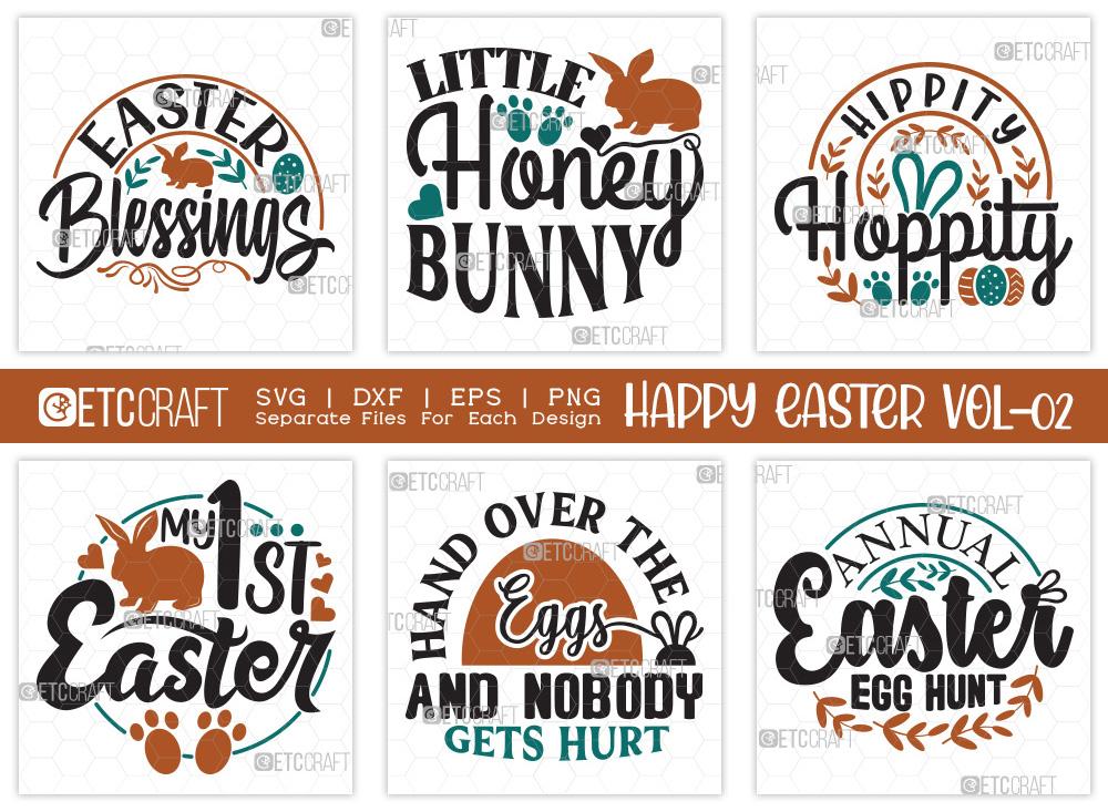 Happy Easter SVG Bundle V2 | Easter Blessings