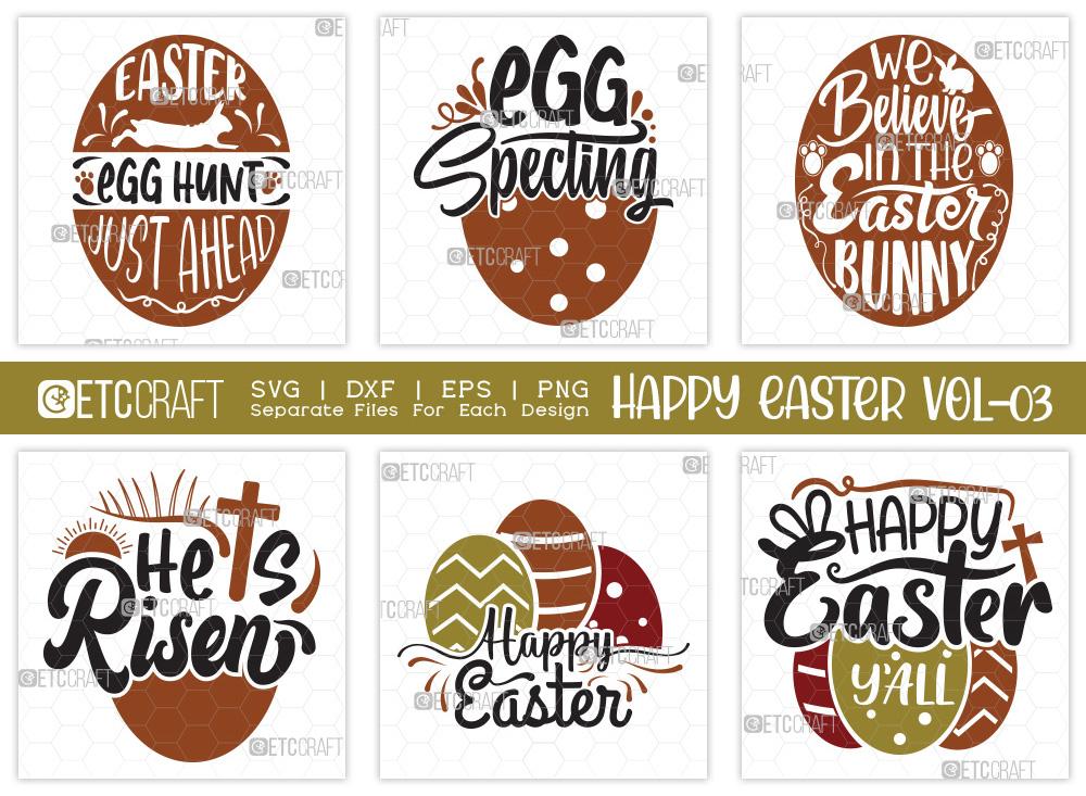 Happy Easter SVG Bundle V3 | Happy Easter