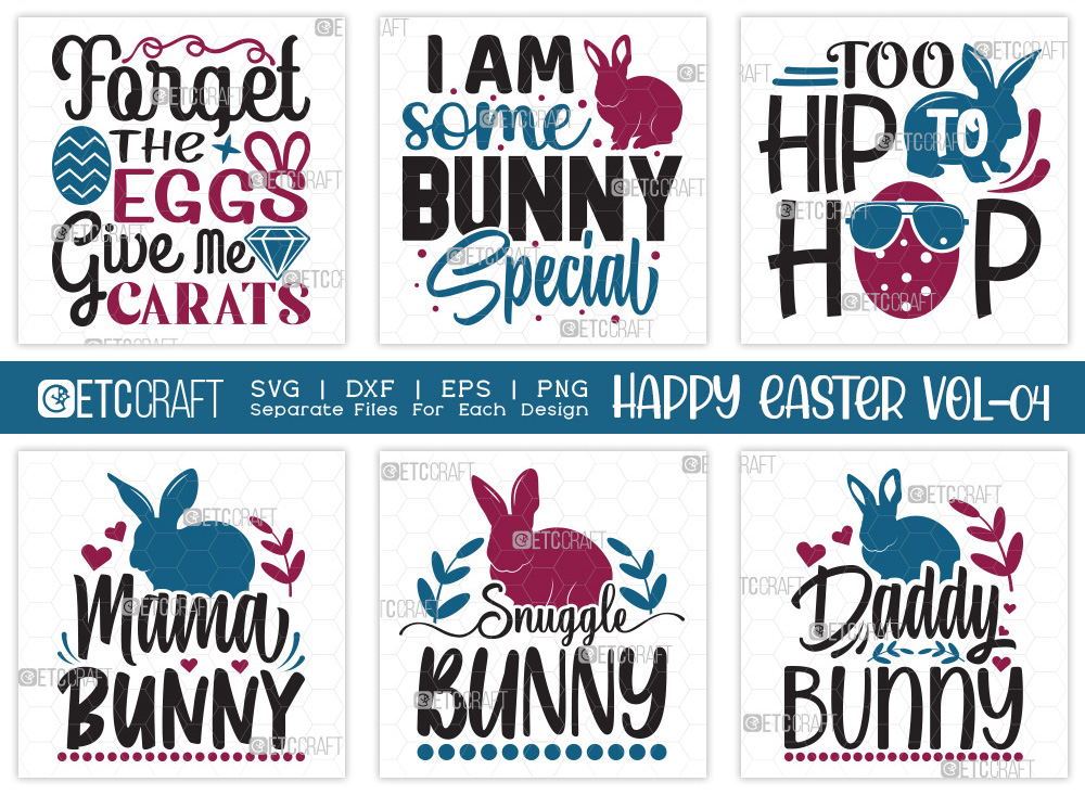 Happy Easter SVG Bundle Vol-04   Easter SVG