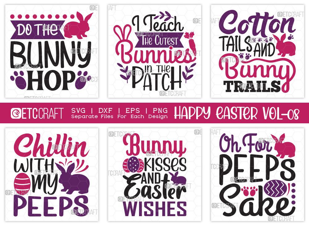 Happy Easter SVG Bundle Vol-08 | Bunny SVG
