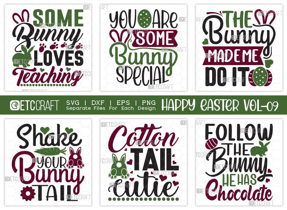 Happy Easter SVG Bundle V9 | Follow The Bunny