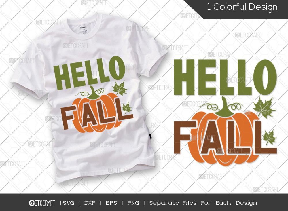 Hello Fall SVG Cut File | Thanksgiving SVG