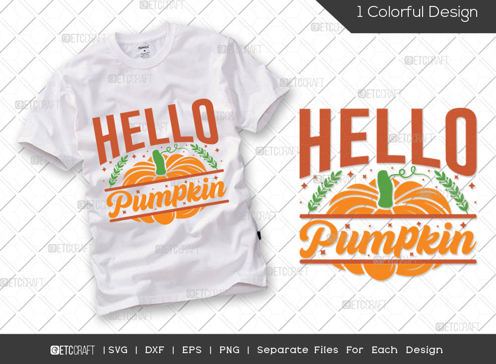 Hello Pumpkin SVG Cut File | Thanksgiving Svg