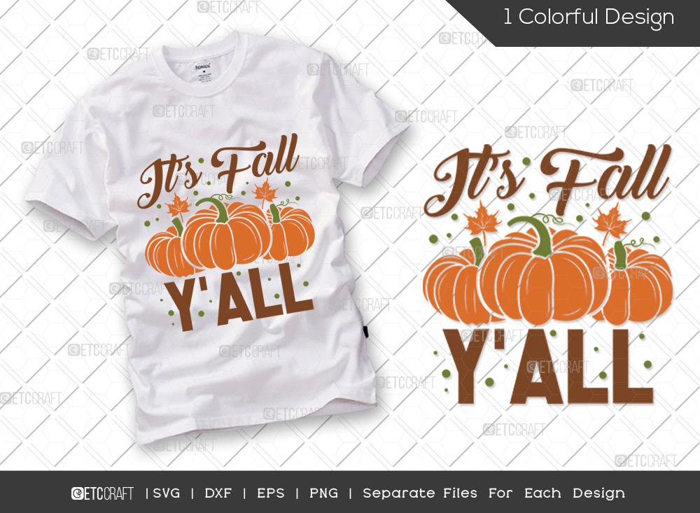 Its Fall Yall SVG Cut File | Pumpkin SVG