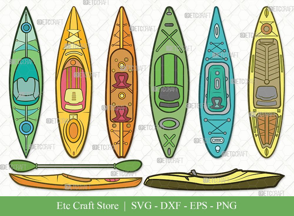 Kayak Clipart SVG Cut File   Kayak Boat SVG