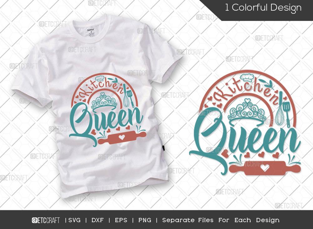 Kitchen Queen SVG Cut File   Baking Queen SVG