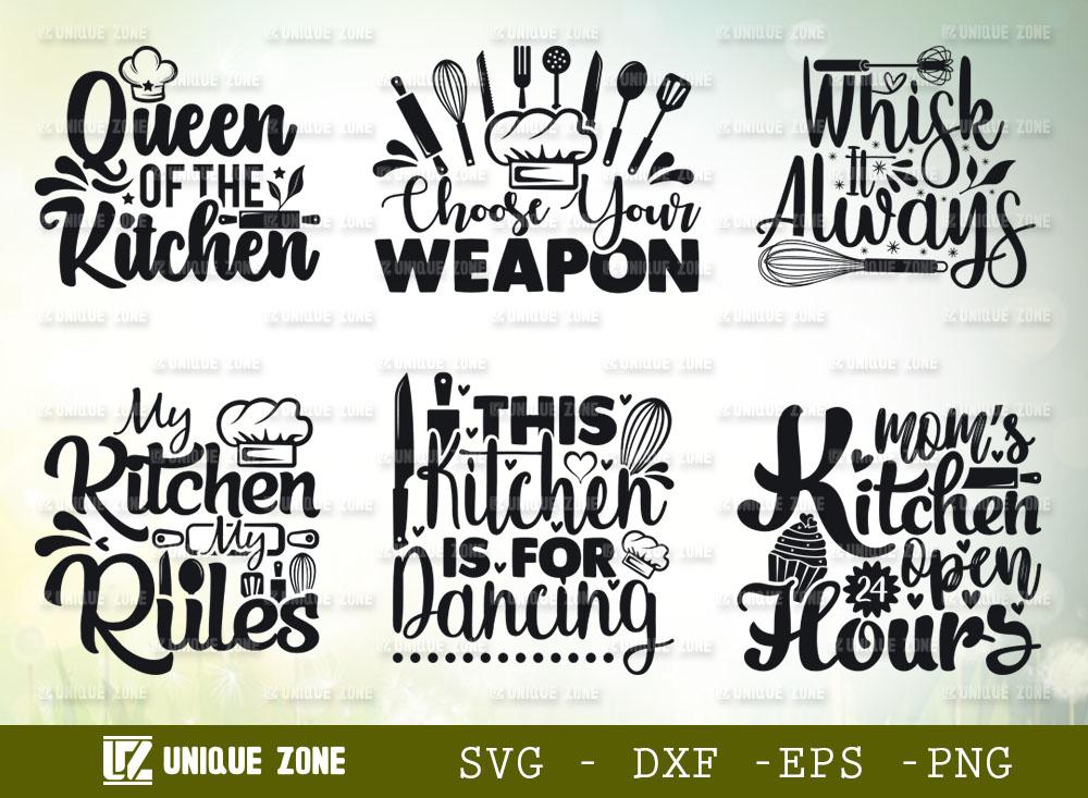 Kitchen Quotes SVG Bundle | Whisk It Always