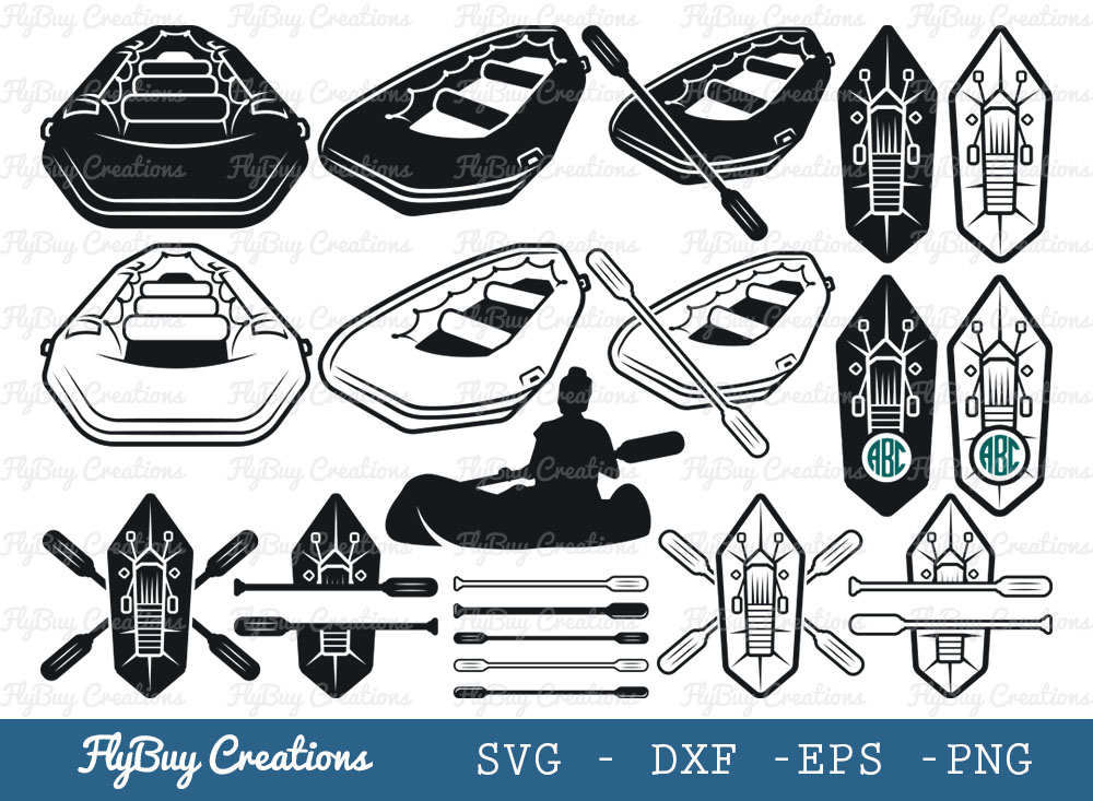 Kokopelli Inflatable Packraft SVG | kayak SVG