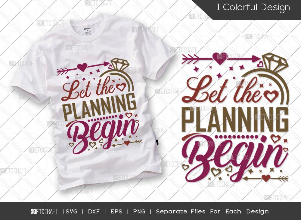 Let The Planning Begin SVG | Marriage SVG