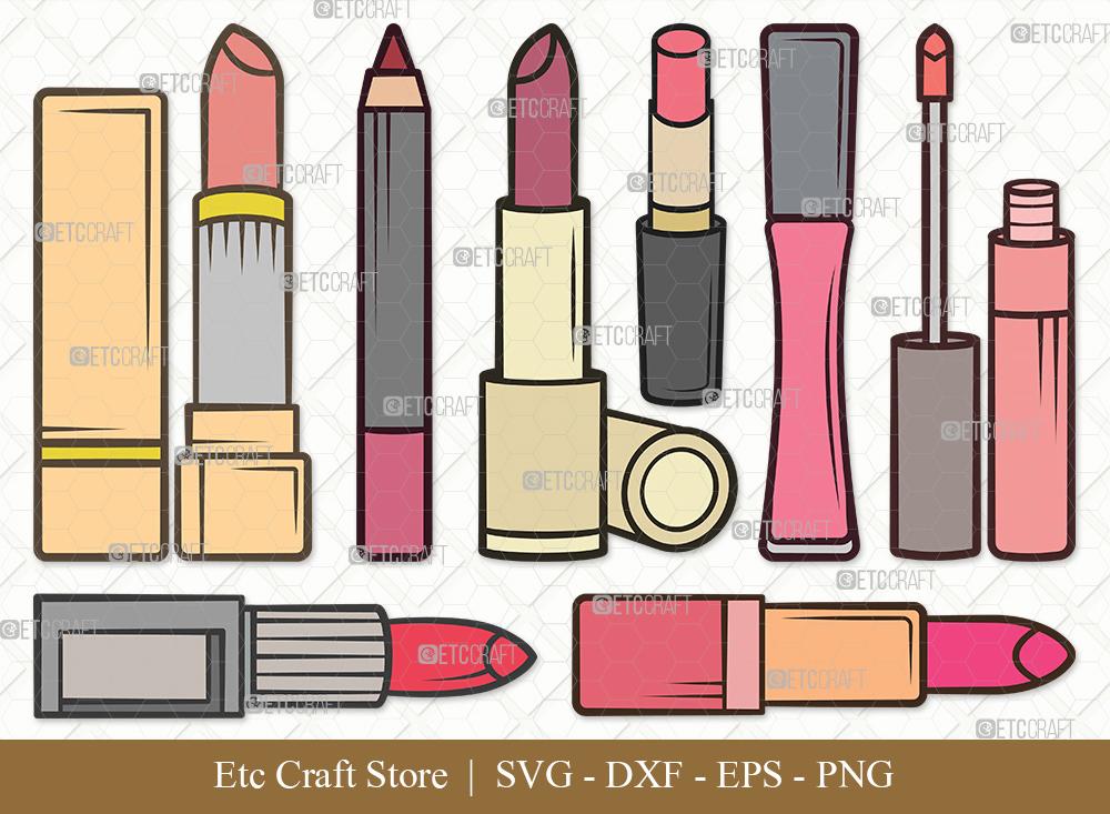 Lipstick Clipart SVG   Lipstick SVG Bundle