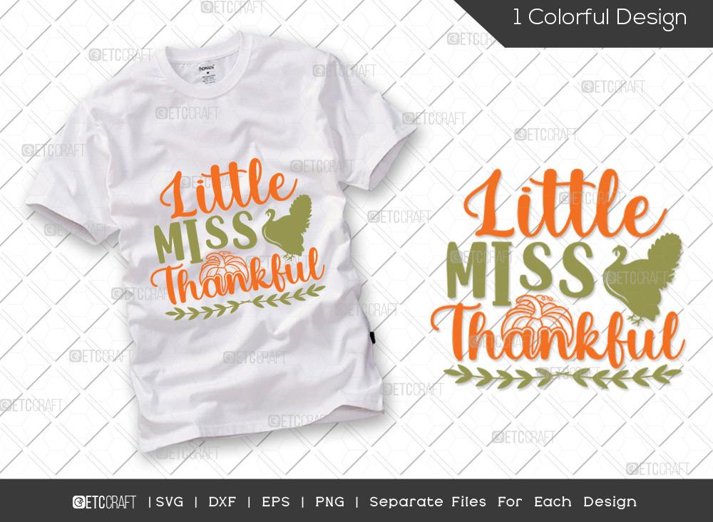 Little Miss Thankful SVG   Thanksgiving SVG