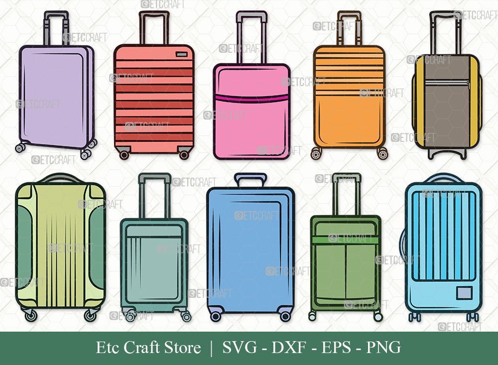 Luggage Clipart SVG Cut File | Suitcase SVG